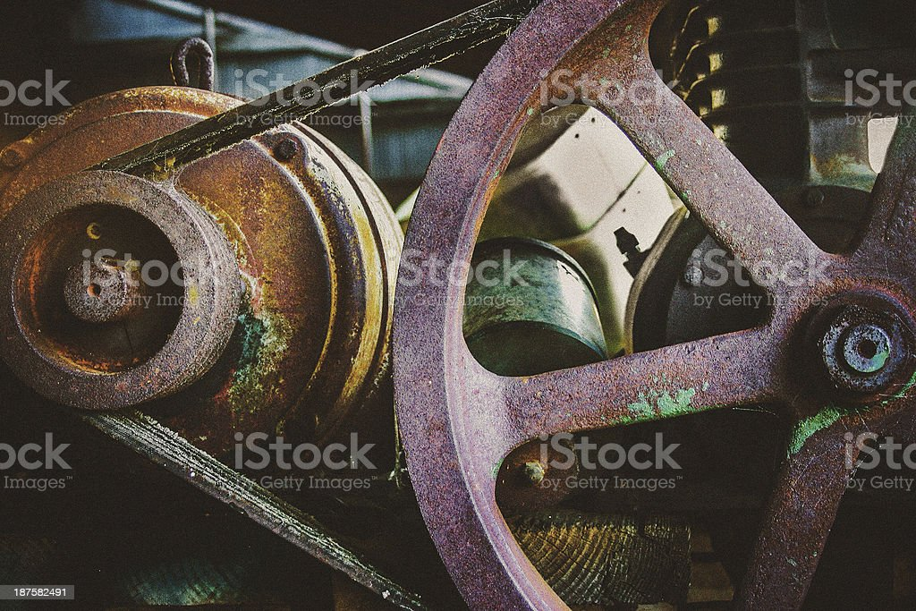 old motor royalty-free stock photo