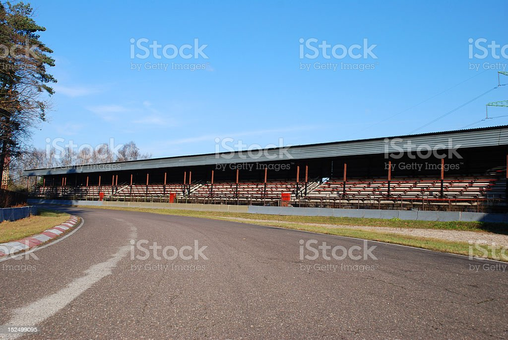 Old motor racing track royalty-free stock photo