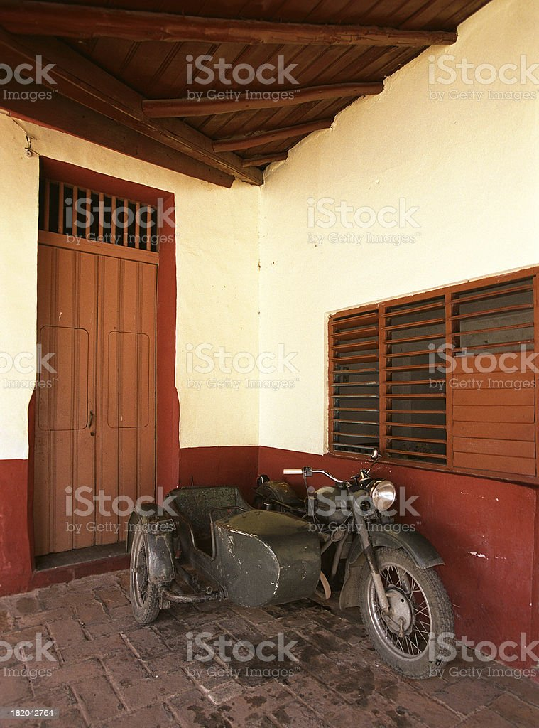Old motorbike, Cuba royalty-free stock photo