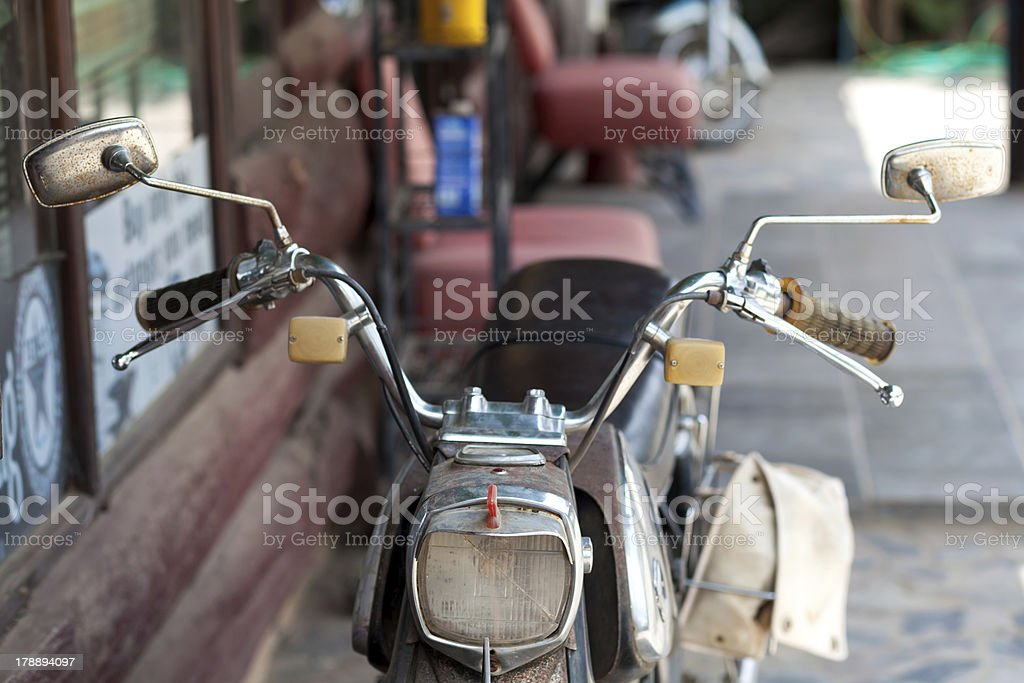 old motorcycle royalty-free stock photo