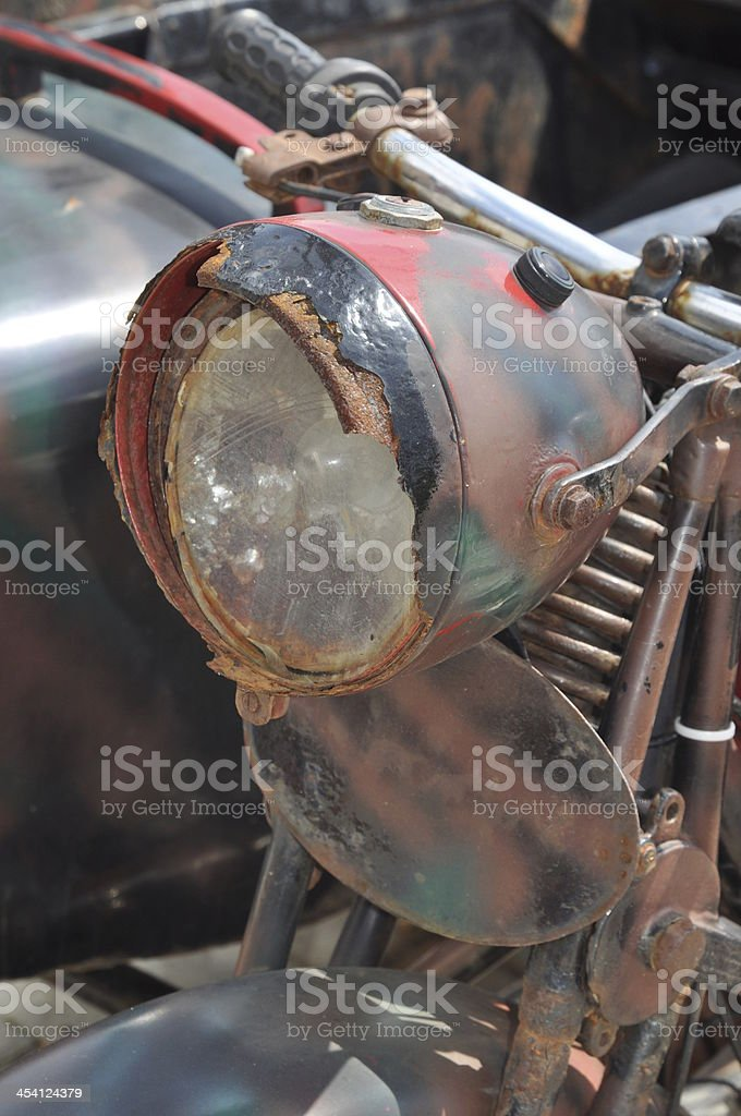 Old motorcycle stock photo