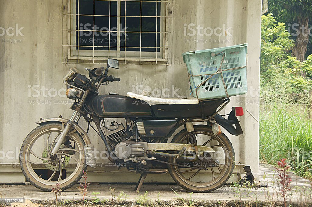 Old motorcylce stock photo