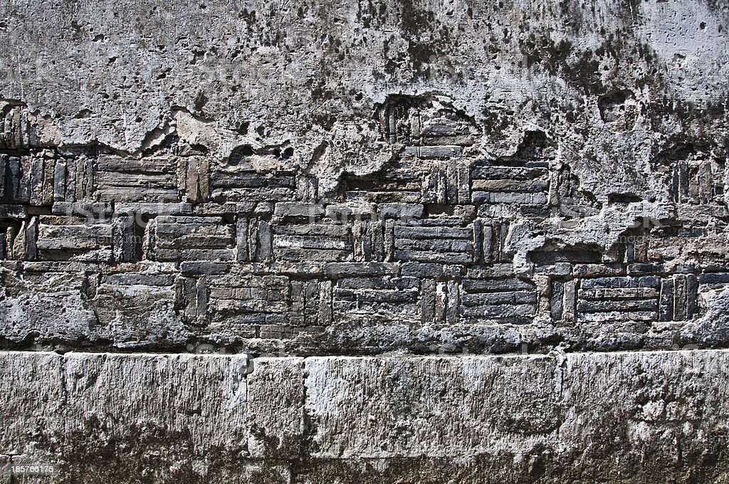 Old mottled walls royalty-free stock photo