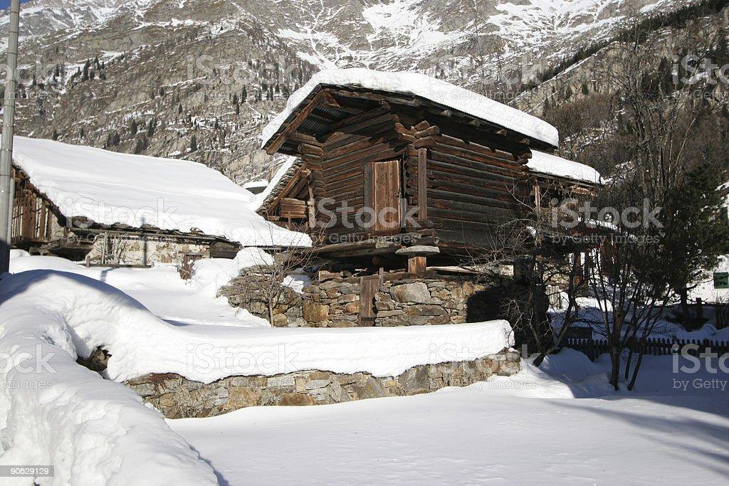 De mountain lodge photo libre de droits