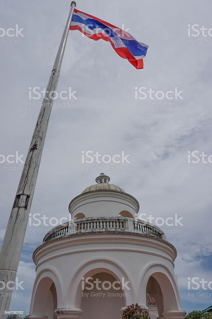 Old mountain observatory Thailand stock photo