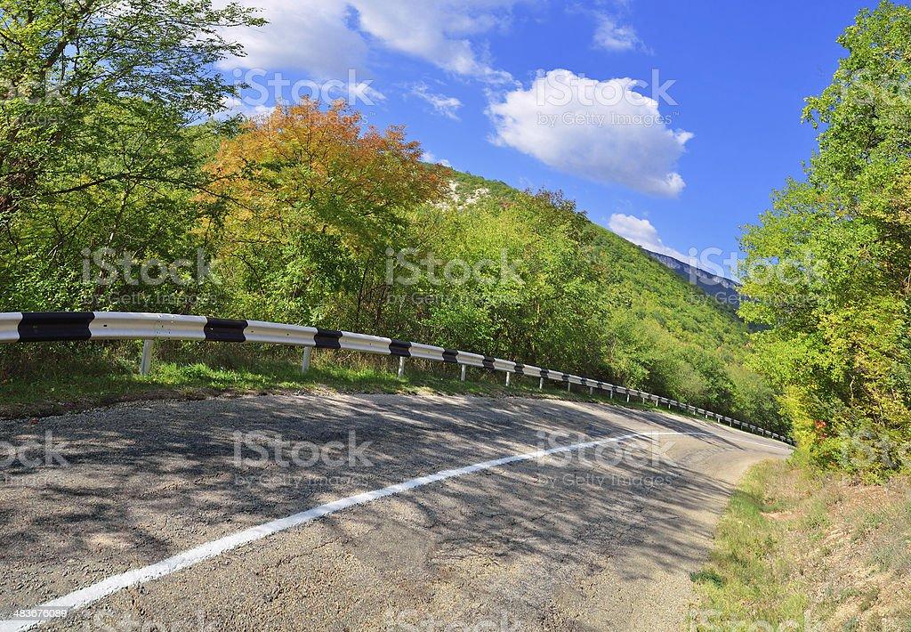 Old mountain road stock photo