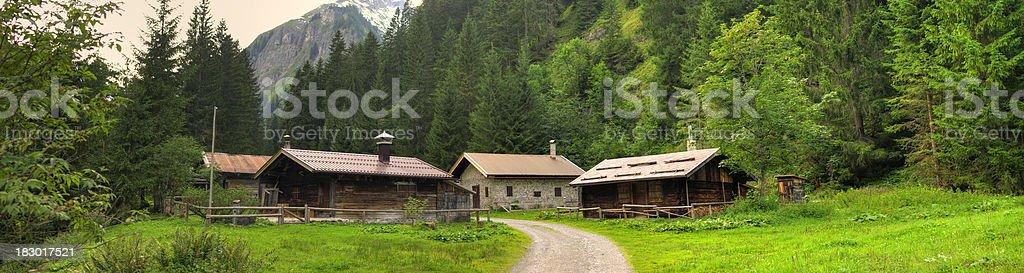 Old mountain village stock photo