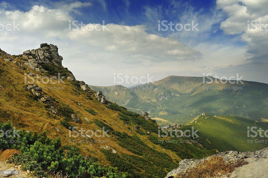 Old mountains stock photo
