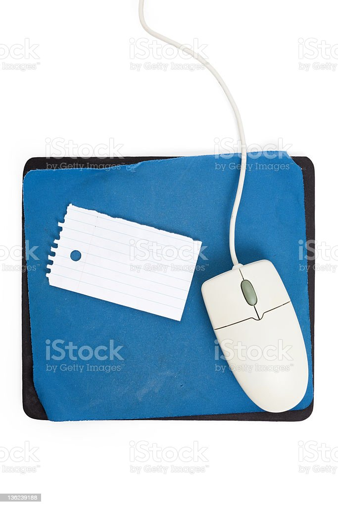 old Mouse pad stock photo