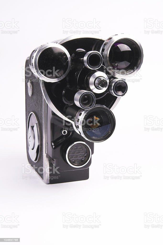 Old movie camera 4 royalty-free stock photo