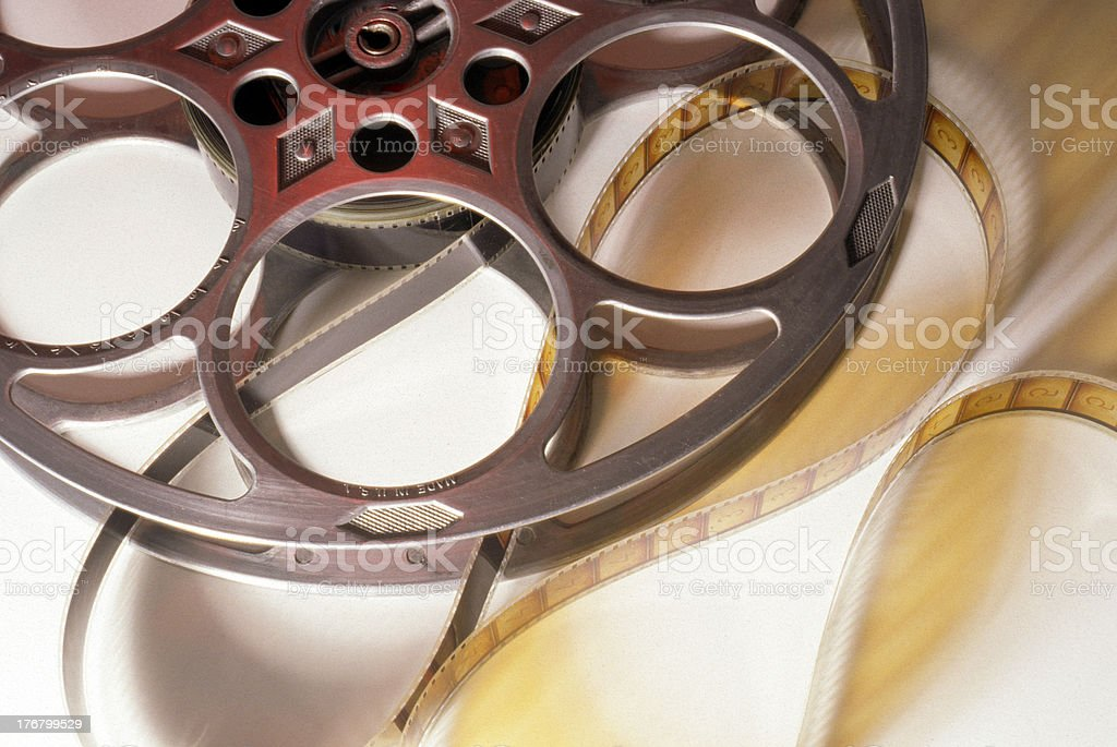 Old Movie Reel and Film royalty-free stock photo