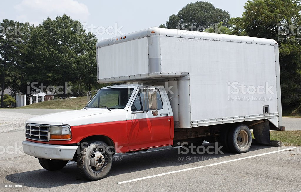 Old Moving Van royalty-free stock photo