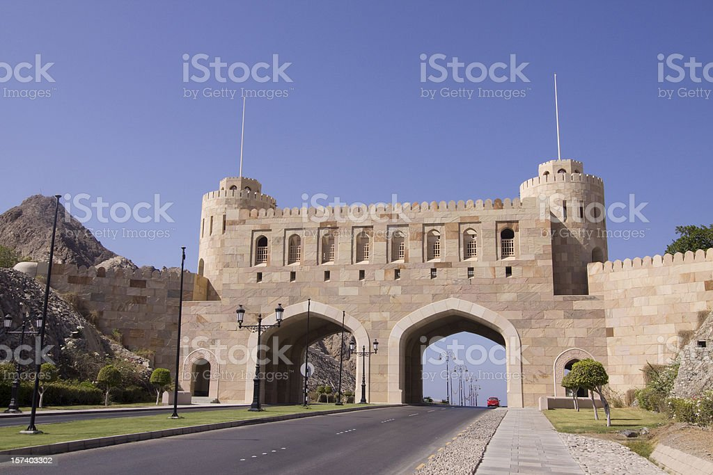 Old Muscat city gate royalty-free stock photo