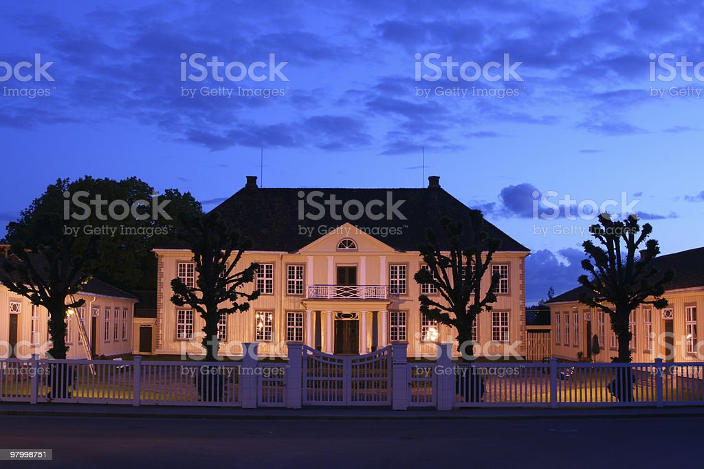 Old museum stock photo