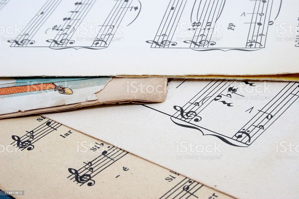 Old music score stock photo