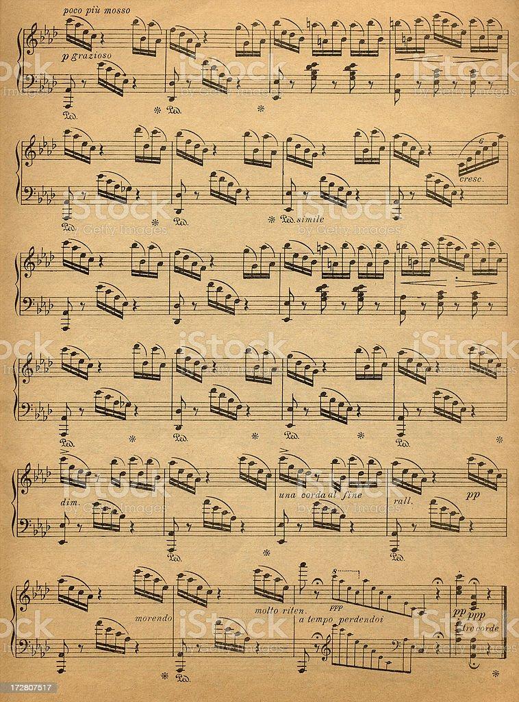 Old Music Sheet royalty-free stock photo