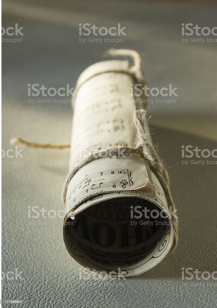 Old musical manuscript royalty-free stock photo