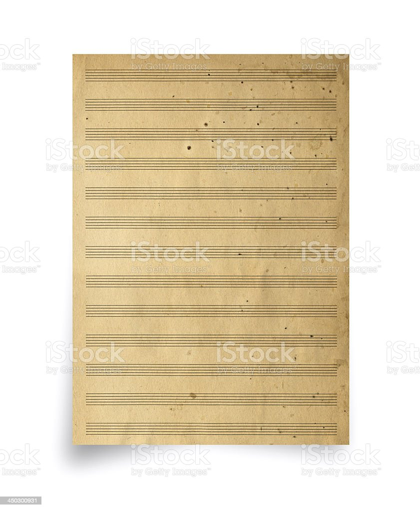 Old Musical Notes Paper royalty-free stock photo