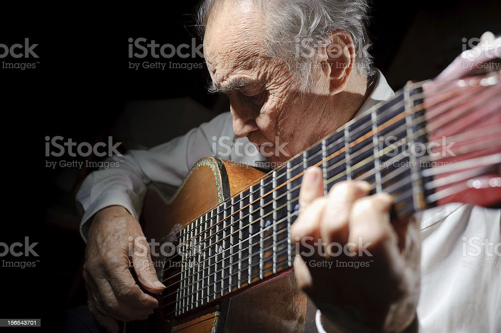 Old musician. royalty-free stock photo