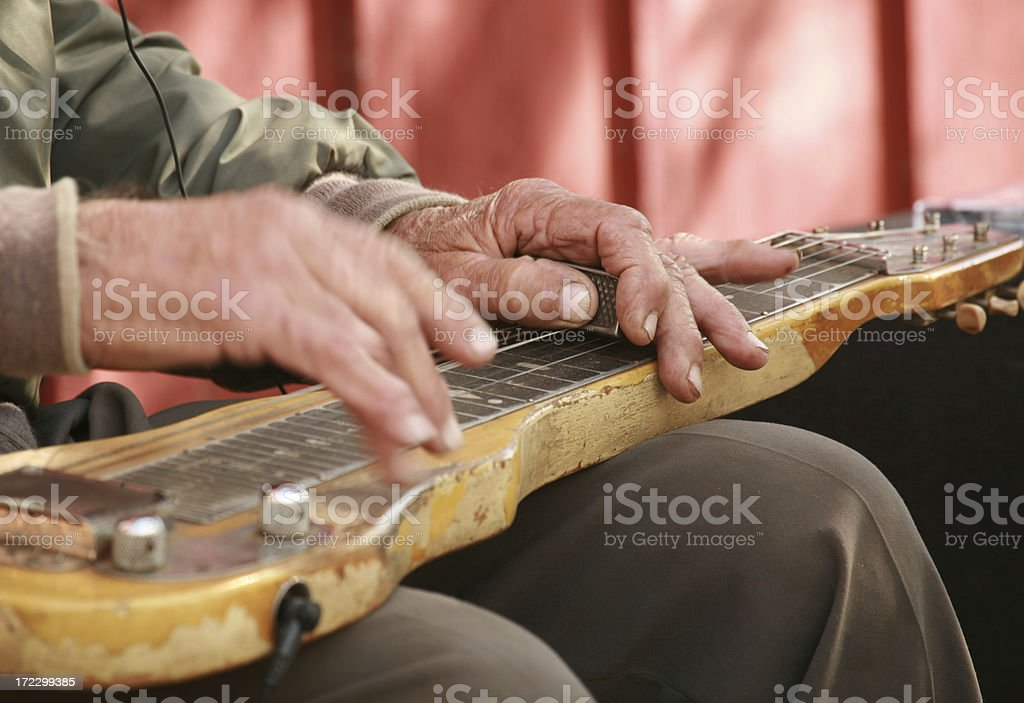 Old Musician stock photo