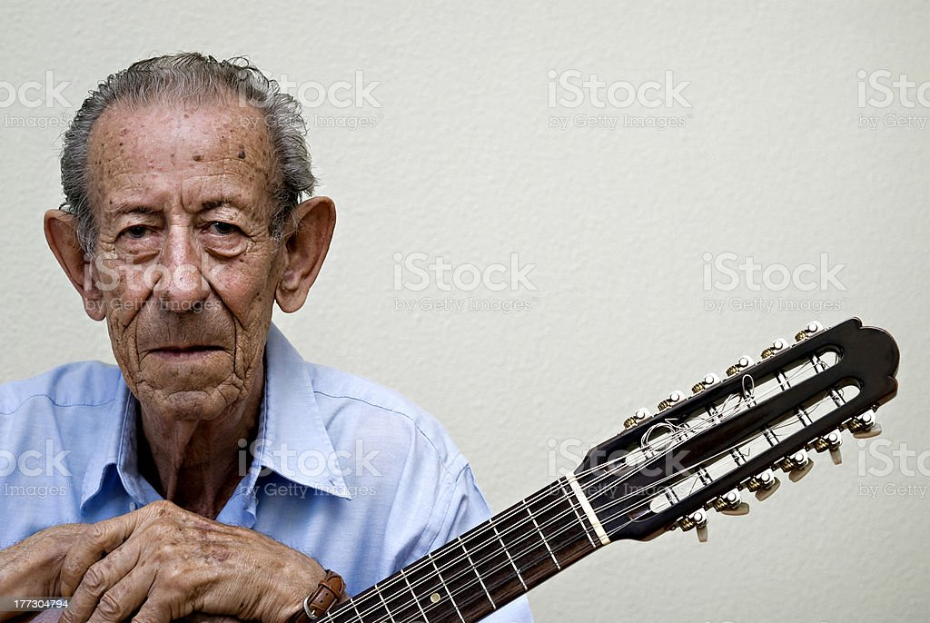 old musician royalty-free stock photo