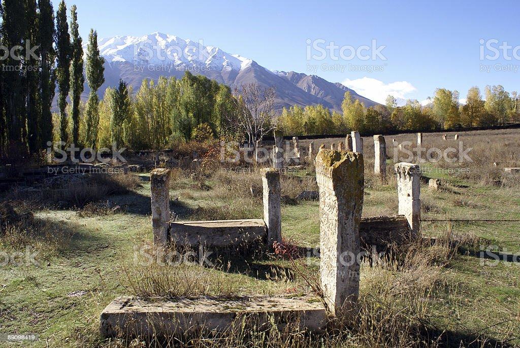 Old muslim graveyard royalty-free stock photo