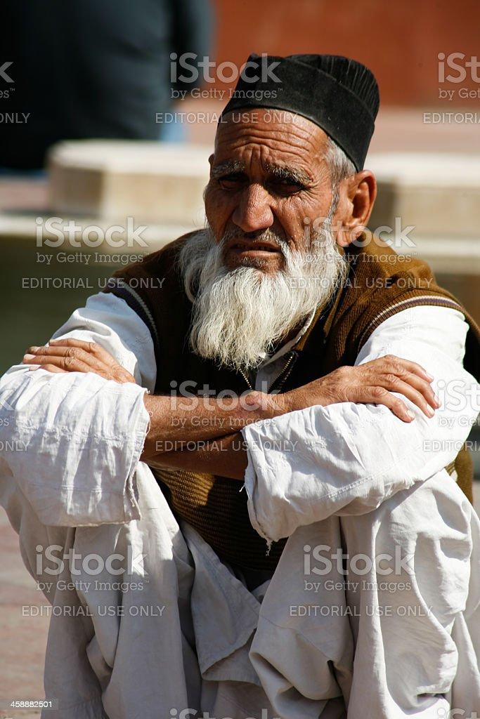 Old muslim man stock photo