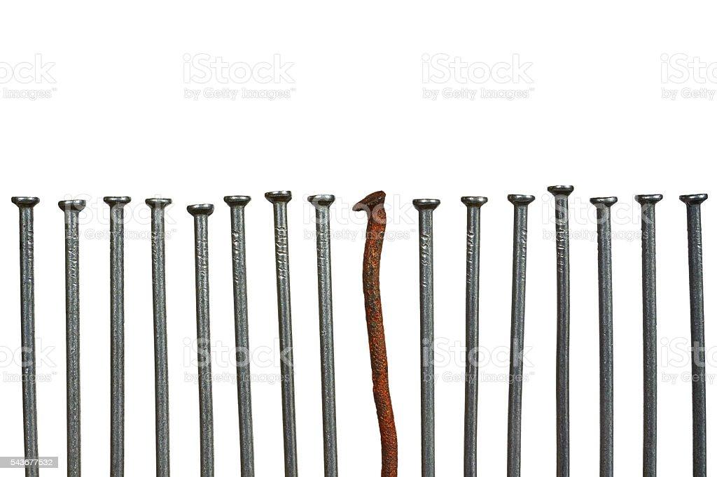 old nail and new nails royalty-free stock photo