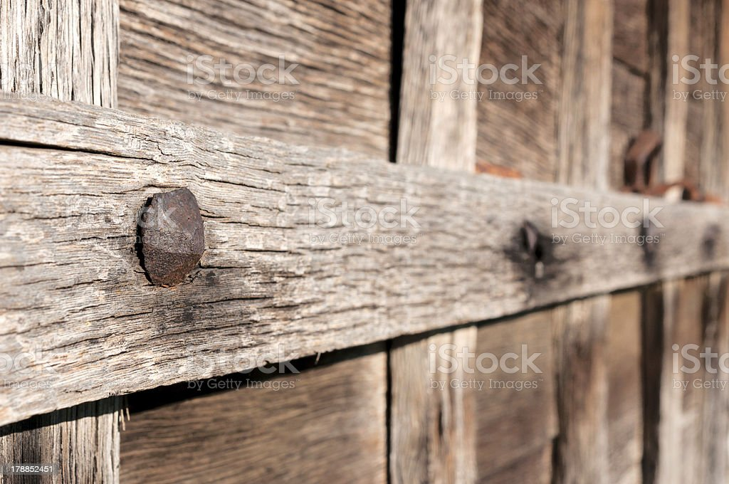 Old nail stock photo