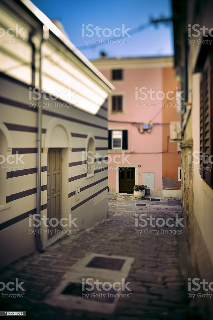 Old, narrow Mediterranean street royalty-free stock photo