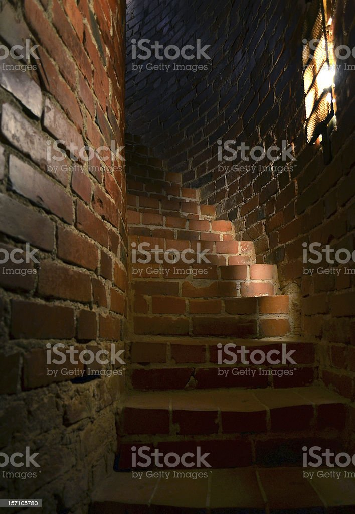 Old narrow stairway royalty-free stock photo