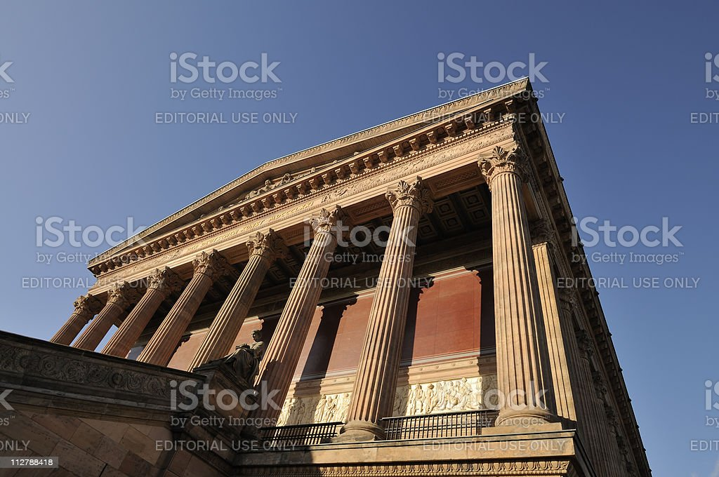Old National Gallery in Berlin, Germany stock photo