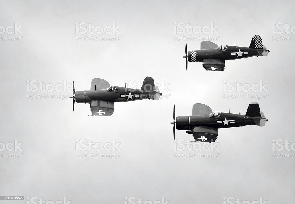 Old Navy fighter planes stock photo