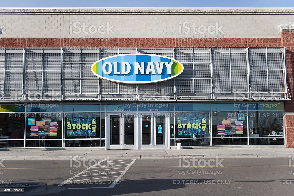 Old Navy retail store in American Fork, Utah royalty-free stock photo