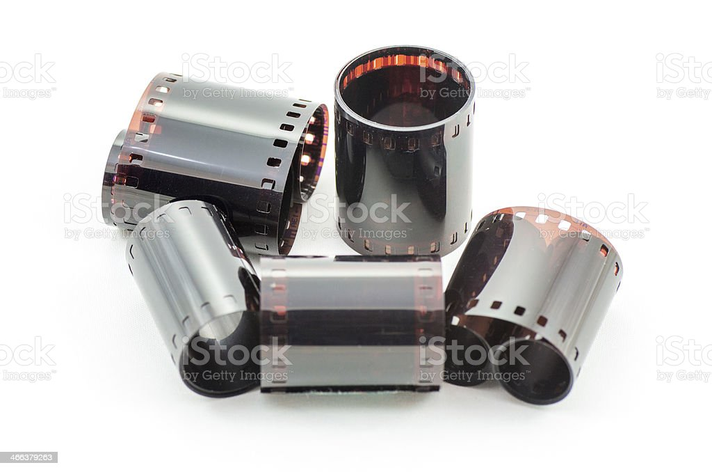 Old negative film stock photo