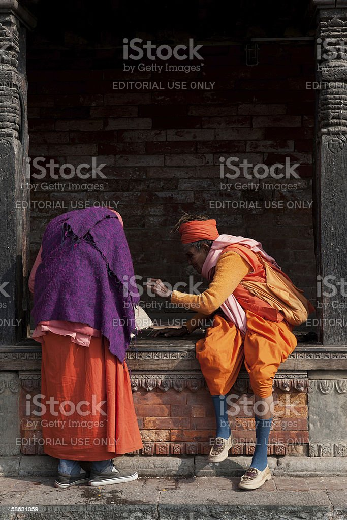 old Nepalese woman royalty-free stock photo