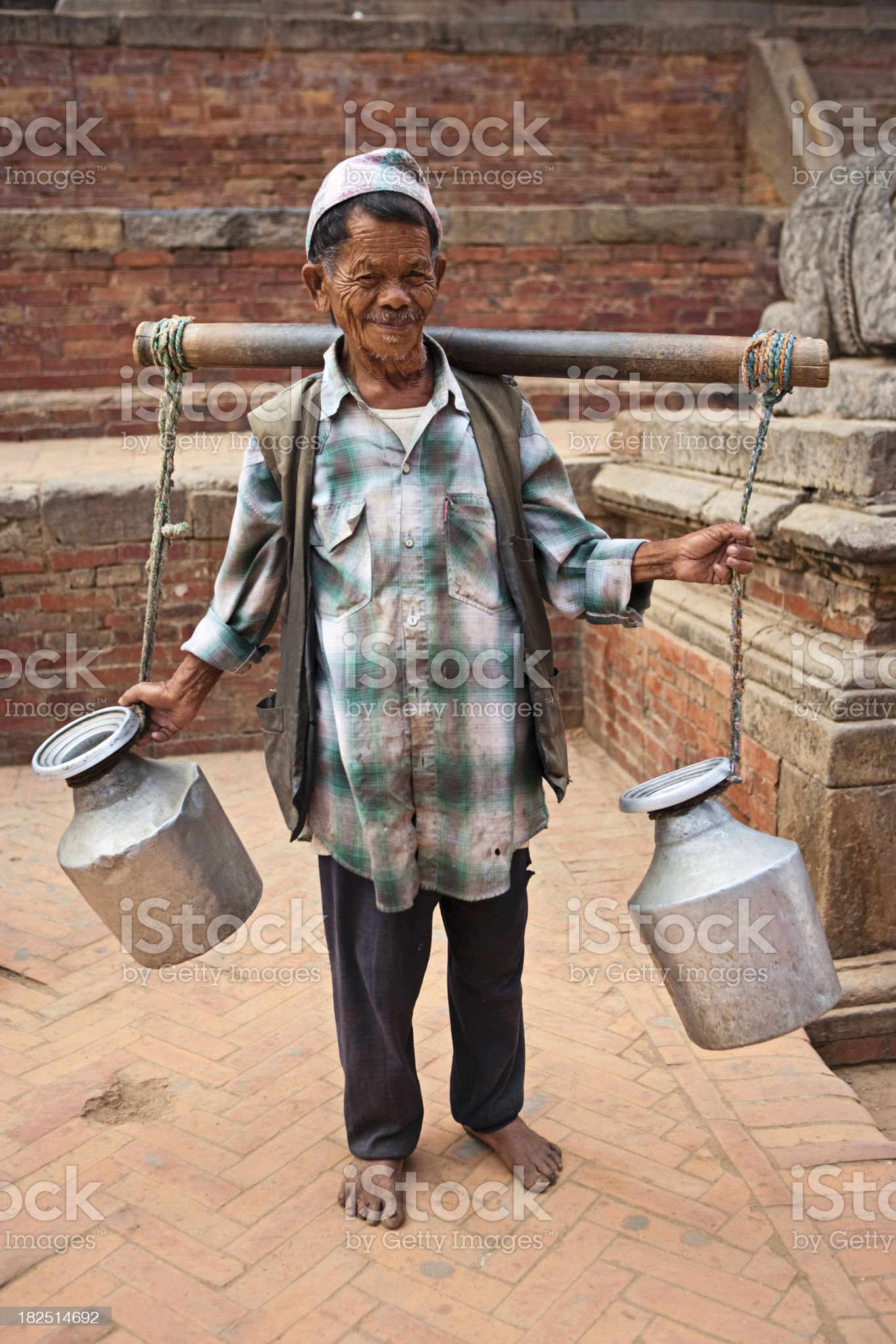 Old Nepali man royalty-free stock photo