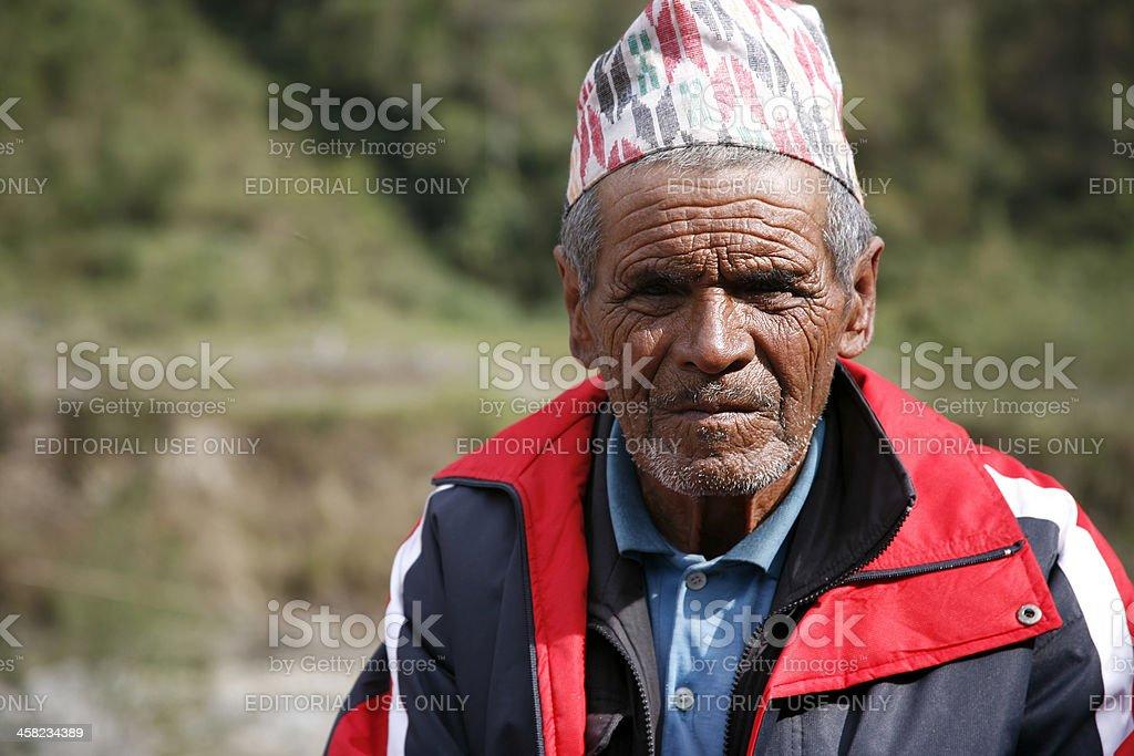 old nepali man royalty-free stock photo