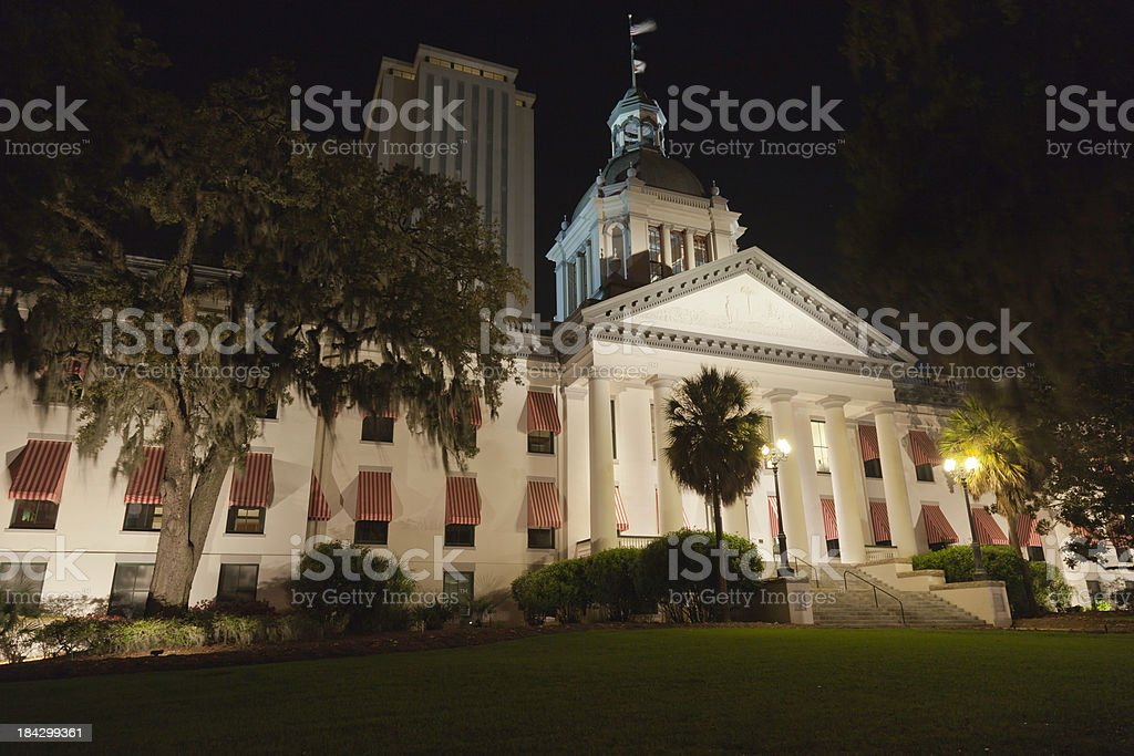 Old & New Capital, Tallahassee FL royalty-free stock photo