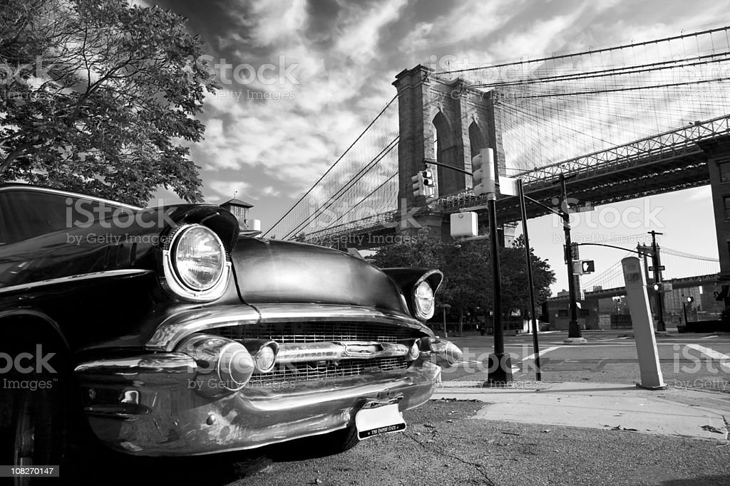 Old New York and Brooklyn stock photo