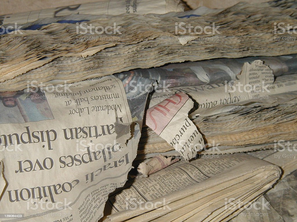 Old News royalty-free stock photo