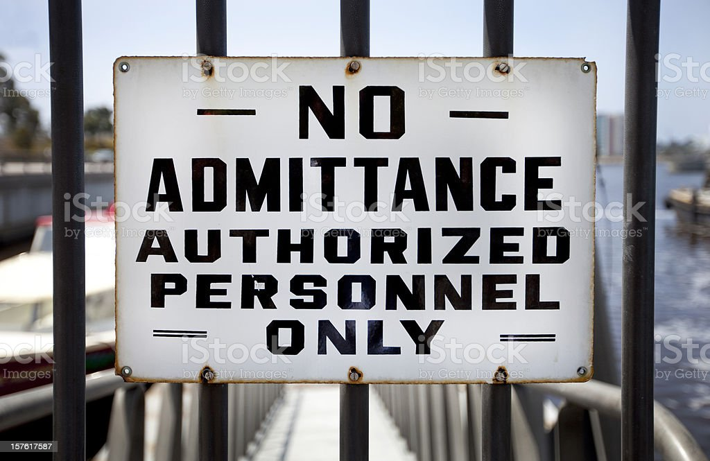 Old No Admittance Sign stock photo