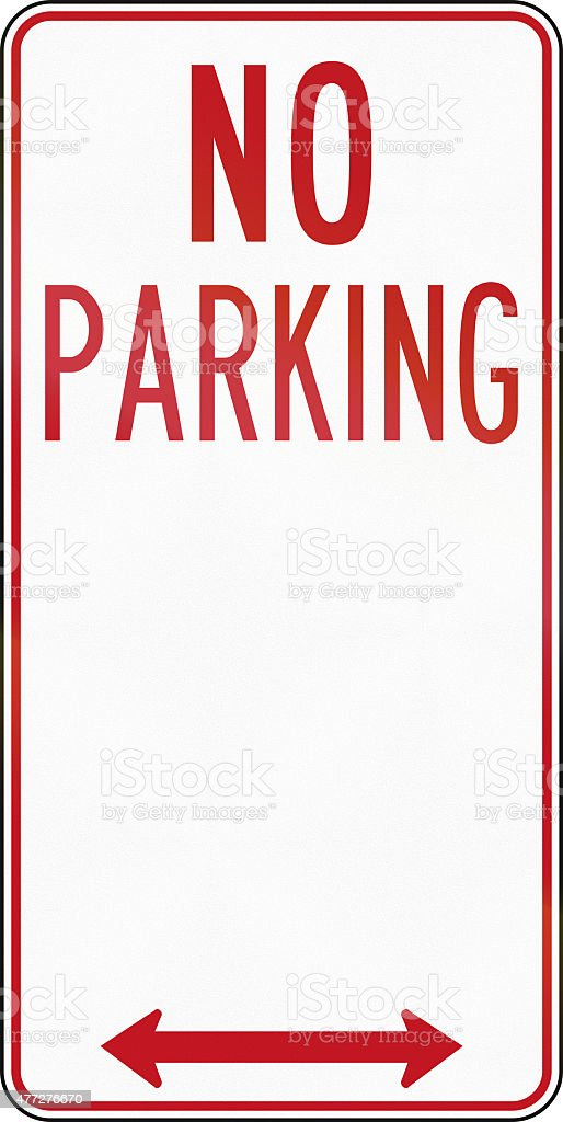 Old No Parking Sign in Australia stock photo