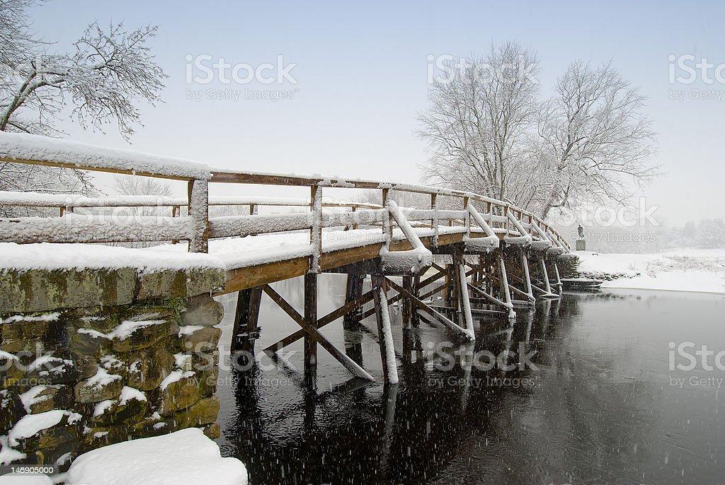 Old north bridge, concord,ma,usa stock photo