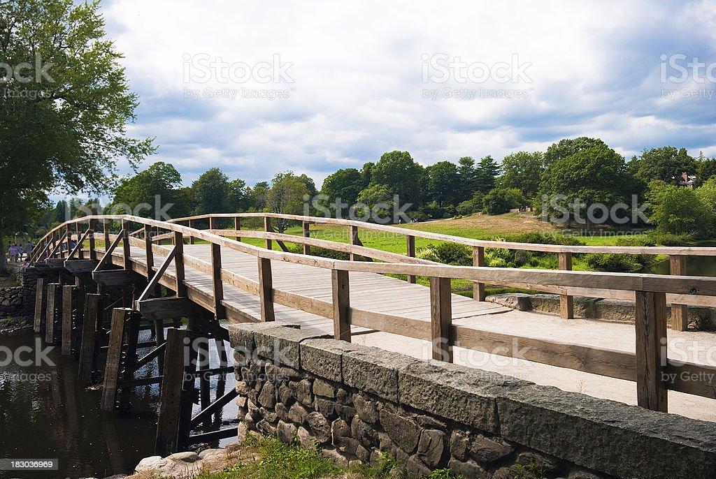 Old North Bridge in Concord, Massachusetts stock photo