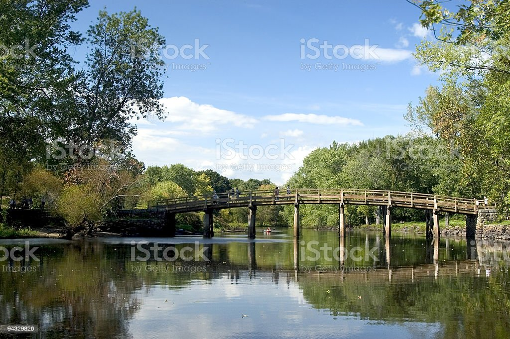 Old North Bridge stock photo