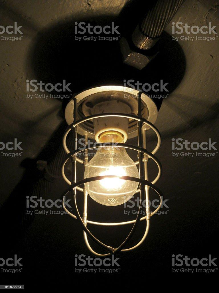 Old not fancy light stock photo