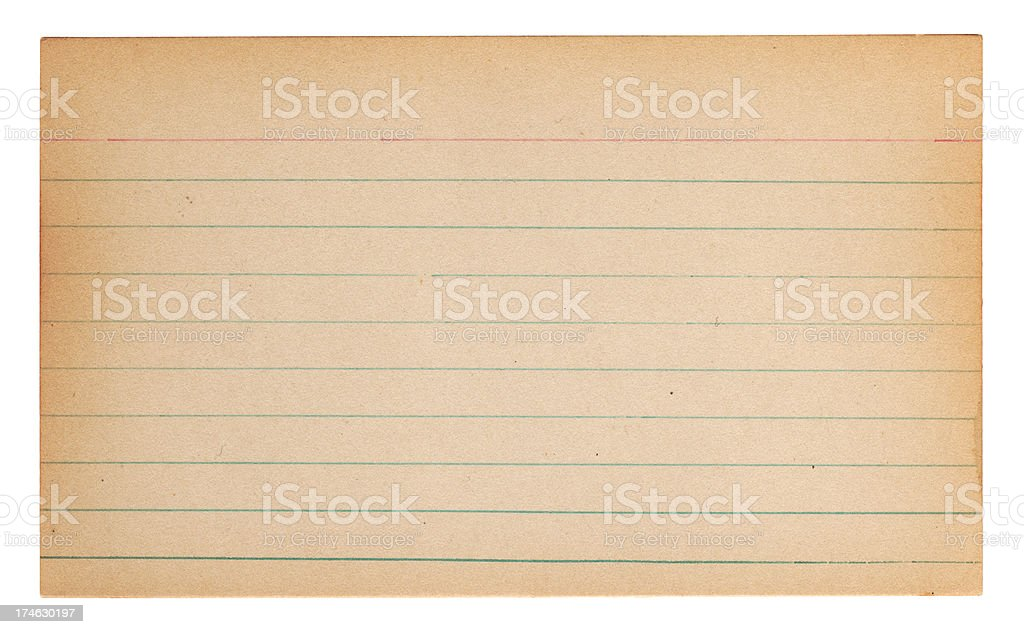 Old Note Card stock photo