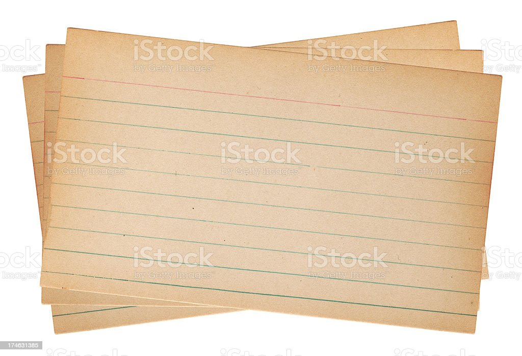 Old Note Cards stock photo