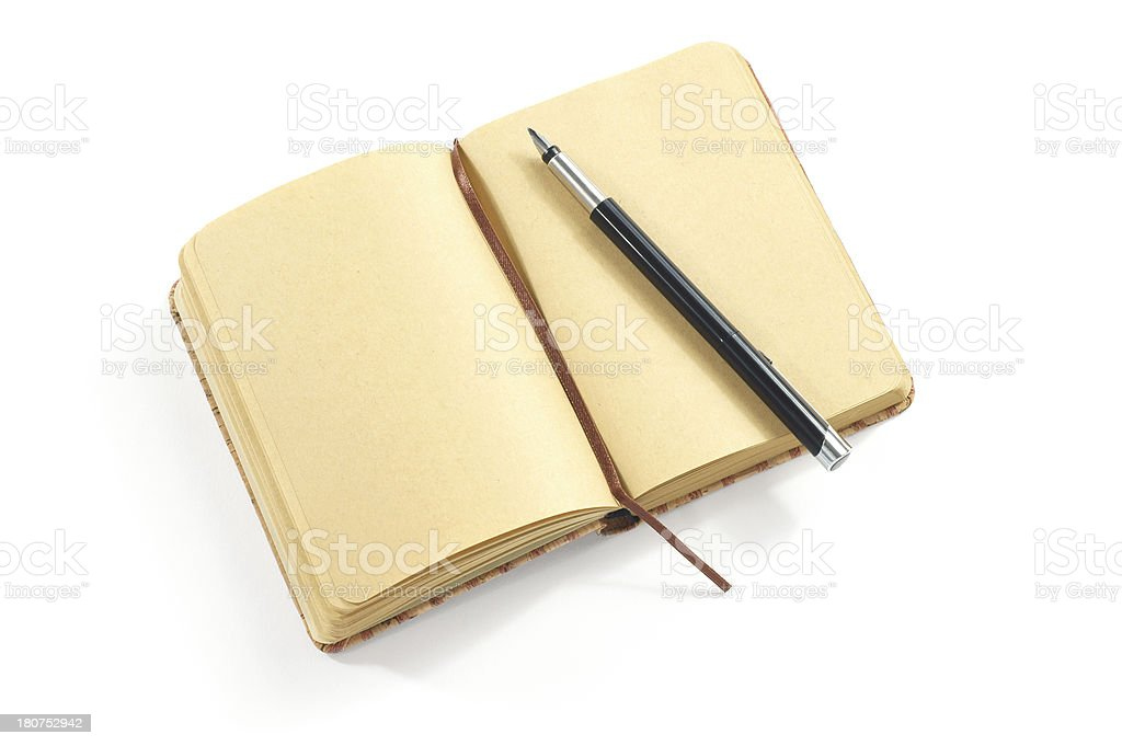 Old Notebook and Fountain Pen royalty-free stock photo